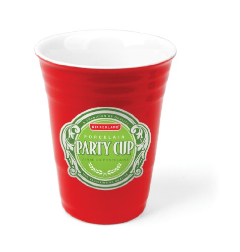 Kikkerland Porcelain Party Cup (Porcelain Red Solo Cup compare prices)