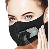 Dust Mask with Electric Respirator, Beeasy Electric Air Mask Dustproof Masks Washable For Outdoor Sports, Gardening, Travel, Craftsman Resist Dust, Germs, Allergies, PM2.5, Pollution, Ash (Color: Electric mask)