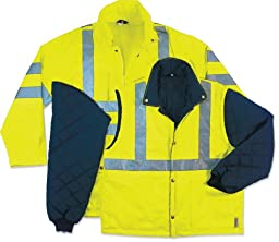 Ergodyne GloWear 8385 Class-3 4-in-1 Jacket, Lime, 3X-Large