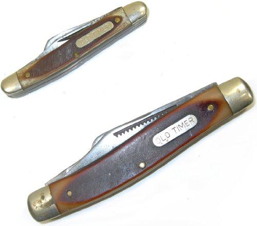 2 Vintage Schrade (Walden, Ny) Old Timer 3 Blade Pocket Knives - 80T & 933