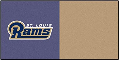 FANMATS NFL Los Angeles Rams Nylon Face Team Carpet Tiles