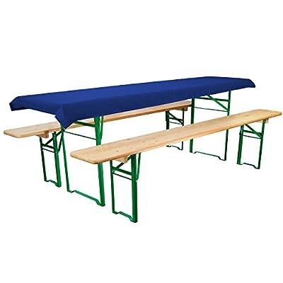 Tischdecke für Bierzeltgarnitur - 70x240 cm (für Tischbreite 50 cm) in diversen Farben - Biertisch-Decke Festzeltgarnitur von Beautissu bei Gartenmöbel von Du und Dein Garten