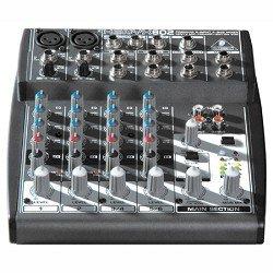 Behringer Xenyx 802 Premium 8-Input Compact Audio Mixer Silver