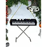"""4"""" Electric Keyboard Musical Music Instrument Ornament Christmas Tree Decoration"""