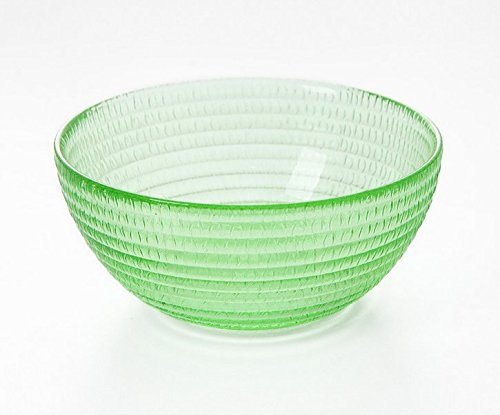 Astra shop Round Glass Serving Bowls, Party Snack or Salad Bowl,Cereal or Rice Bowl - Green Green Glass Serving Bowl