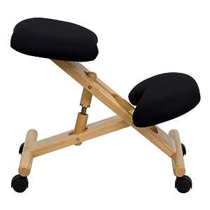 Black Fabric Knee Kneeling Posture Ergonomic Desk Task Chairs