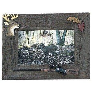 Rivers Edge Rustic Barnwood Deer / Rifle Photo Frame 4x6