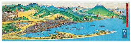 954ピース 清水静岡名所交通鳥瞰図 (34x102cm)