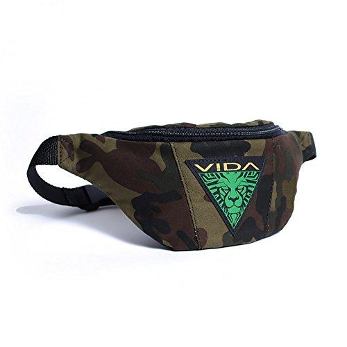 VIDA Marsupio Sportivo Sport Borsa Borsetta Borsello Borsone da Viaggio Nero Portafoglio Uomo Donna Militare Camouflage Wasist Bag Cintura Running