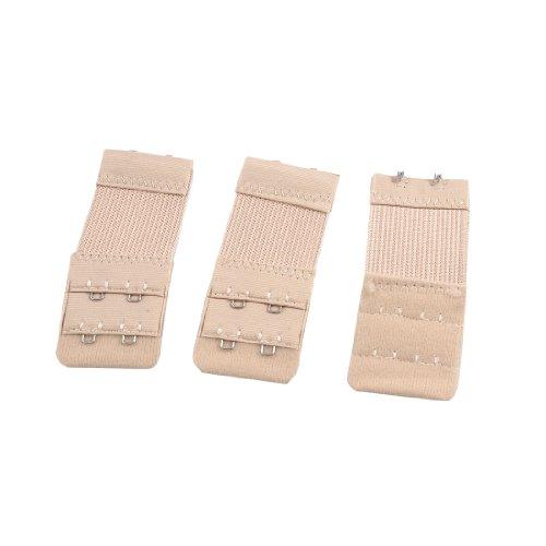 ladies-underwear-2-rows-hooks-stretchy-bra-strap-extender-beige-3-pcs