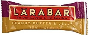 LARABAR Fruit & Nut Food Bar, Peanut Butter & Jelly, Gluten Free, 1.7 oz. Bars,  (Pack of 16)