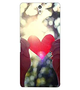 ColourCraft Heart Design Back Case Cover for SONY XPERIA C5 ULTRA