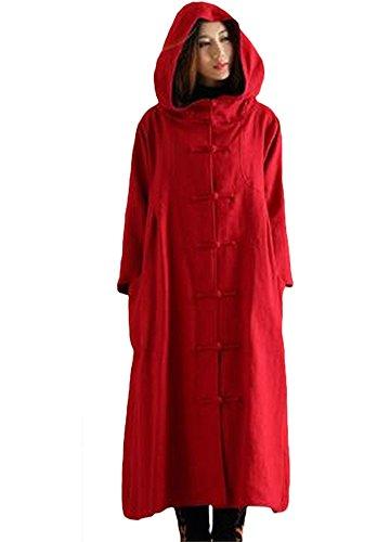 Minibee Women's Button Hoody Outwear Coat