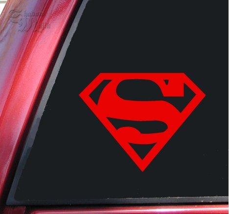 Superman Vinyl Decal Sticker - Red | 5 X 4 In