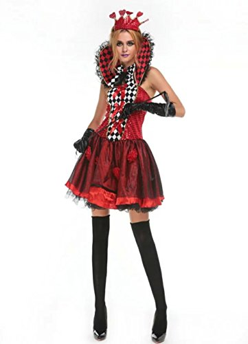 [NonEcho Women's Halloween Costume Queen of Heart Costume Party Idea] (Party City Zombie Costume For Girls)