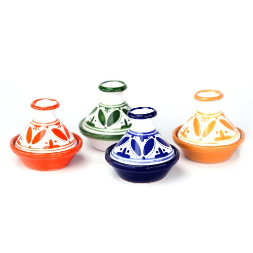 Sobremesa Fez Multicolored Ceramic Mini Tagine, Set of 4