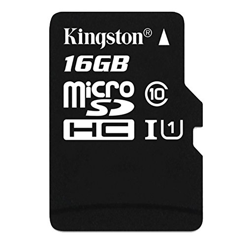 Kingston 16 GB UHS Class 1/Class10 microSDHC UHS-I Flash Memory Card (microSDHC to SD Adapter Included)