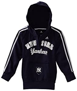 MLB Girls New York Yankees Kangaroo Pocket Pullover Hoodie by adidas