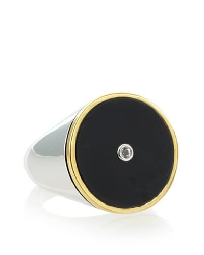 Elizabeth and James Nile Round Matte Onyx Ring