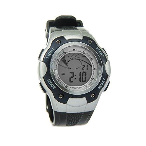 8Years - 1 Digitaluhr Armbanduhr Watch Stoppuhr Wasserdicht Dunkelblau