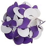 Ravi Creations Plastic Diwali Lamp - RC-20, White & Purple, 18 Cm X 18 Cm X 18 Cm
