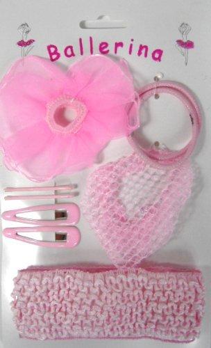 Girls Pink Ballerina Hair Bobbles/Accessories Set