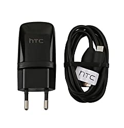 For Htc Desire Charger With USB Data Cable 820 816 826 620G One M7 M8 E8 Eye One Mini 2 - Black