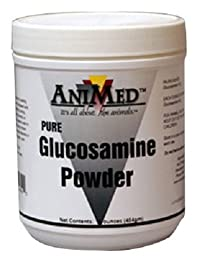 ANIMED 1 lb Pure Glucosamine Powder Equine Supplement that Aids in the Repair of Damaged Tissue, and Reduces Inflammation