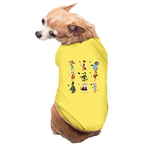 [GDFEH Cartoon Logo Daily Pet Dog Clothes T-shirt Coat Pet Apparel Costumes New Yellow S] (Make Monkey Magic Costume)