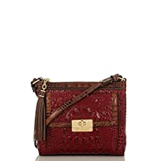 Mimosa Crossbody<br>Carmine Red Tri-Texture