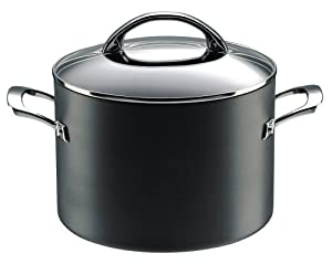 Raymond Blanc by Anolon Professional Hard Anodised Non-stick Covered Stockpot, 7.6 Litre - 24 cm