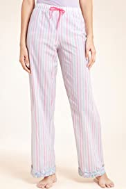 Limited Collection Cotton Rich Striped Pyjama Bottoms [T37-2465-S]