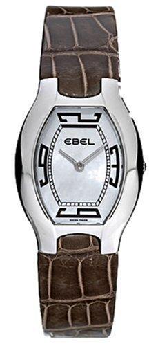 Ebel - 9175G31-9135267 - Beluga - Montre Femme Tonneau Acier - Quartz Analogique - Bracelet Cuir Marron Ecailles