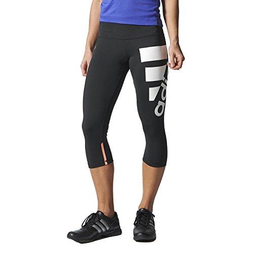 Adidas Performance-Pantaloni aderenti da donna, Donna, nero/bianco, XS