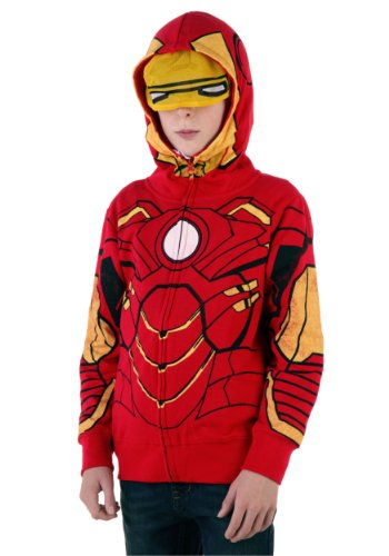 Iron Man Costume -- Marvel Hoodie Zipper-Fleece Youth Sweatshirt