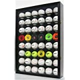 Large 48 Baseball Display Case Wall Cabinet, with 98% UV Protection Door and Lock by Unknown