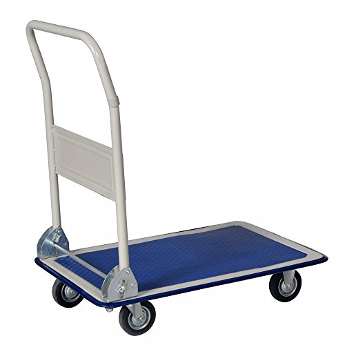 New Blue 330lbs Platform Cart Dolly Folding Foldable Moving Warehouse Push Hand Truck (Hand Push Cart compare prices)