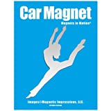 Contemporary/Jazz Dancer Female Car Magnet Chrome