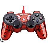 Dual Shock Wired USB Gamepad Controller For PC With Gripped Joysticks Ergonomic Design Vibration Force Feedback... - B00S8799WW