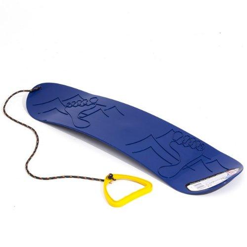 Planche-a-neige-Snowboard-bleu-demi-rond-plastique-ideal-pour-lhiver-L-68-cm