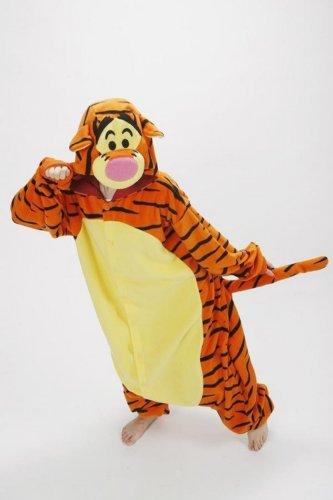 Adult Fleece Lovely Tiger Pyjamas Pajamas Sleepsuit Sleepwear (Size Xl) front-865938