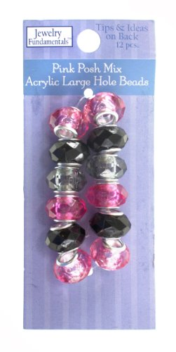 Sulyn Pink Posh Mix Acrylic Large Hole Beads