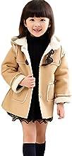 Zhuannian Little Girls Faux Fur Hooded Coat  Jackets with Sherpa Lining