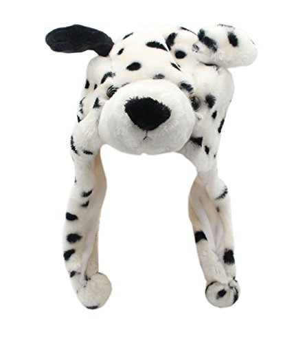 [COOLYES Kids & Adults Soft Plush Animal Hat Ear Flap Winter Beanie (Dalmatian)] (Dalmatian Ears)