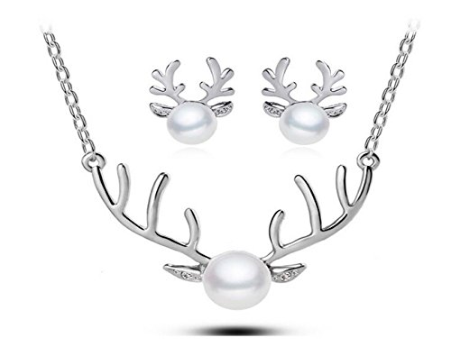 luck-wang-womans-unique-antlers-fashion-jewelry-pearl-necklace-earring-piece-fitted2