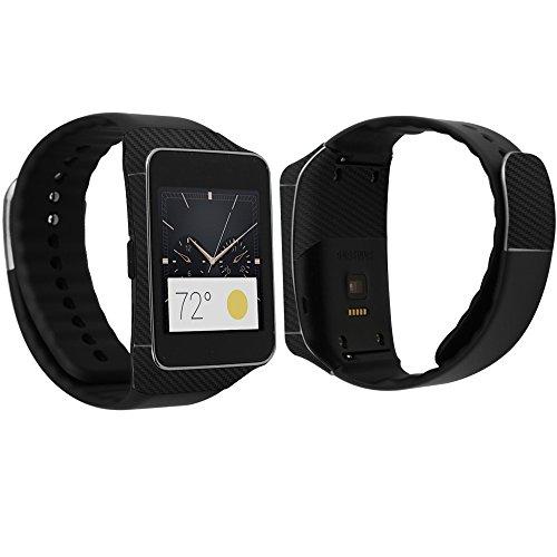 Skinomi TechSkin - Samsung Gear Live Screen Protector + Carbon Fiber Full Body Skin / Front & Back Wrap / Premium HD Clear Film / Ultra Invisible and Anti-Bubble Shield (Skinomi Carbon compare prices)