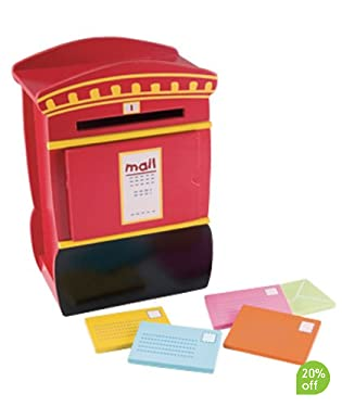 Realistic wooden post box  Post your letters inside, open the door to retrieve them and then post them again and again  Suitable from 6mths
