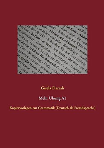Buchcover: Mehr Übung A1: Kopiervorlagen zur Grammatik (Deutsch als Fremdsprache)