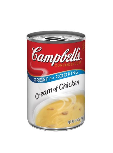Campbell's Red & White Cream Of Chicken Soup, 10.75-Ounce Cans (Pack of 48)