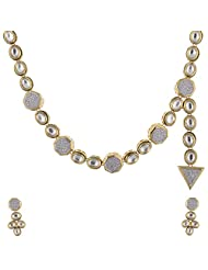 Ashapura Gold Plated Necklace With Dangle & Drop Earrings For Women - N0276